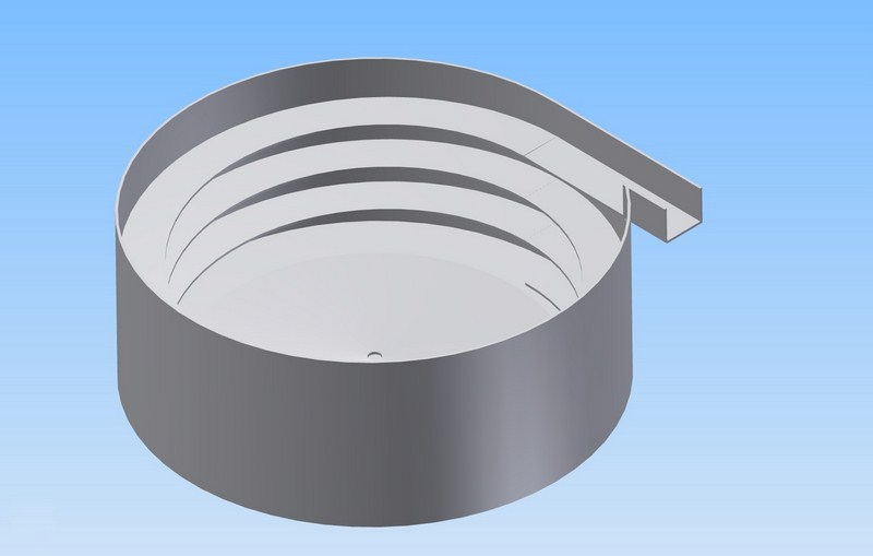 Stepped Bowl for vibratory bowl feeders