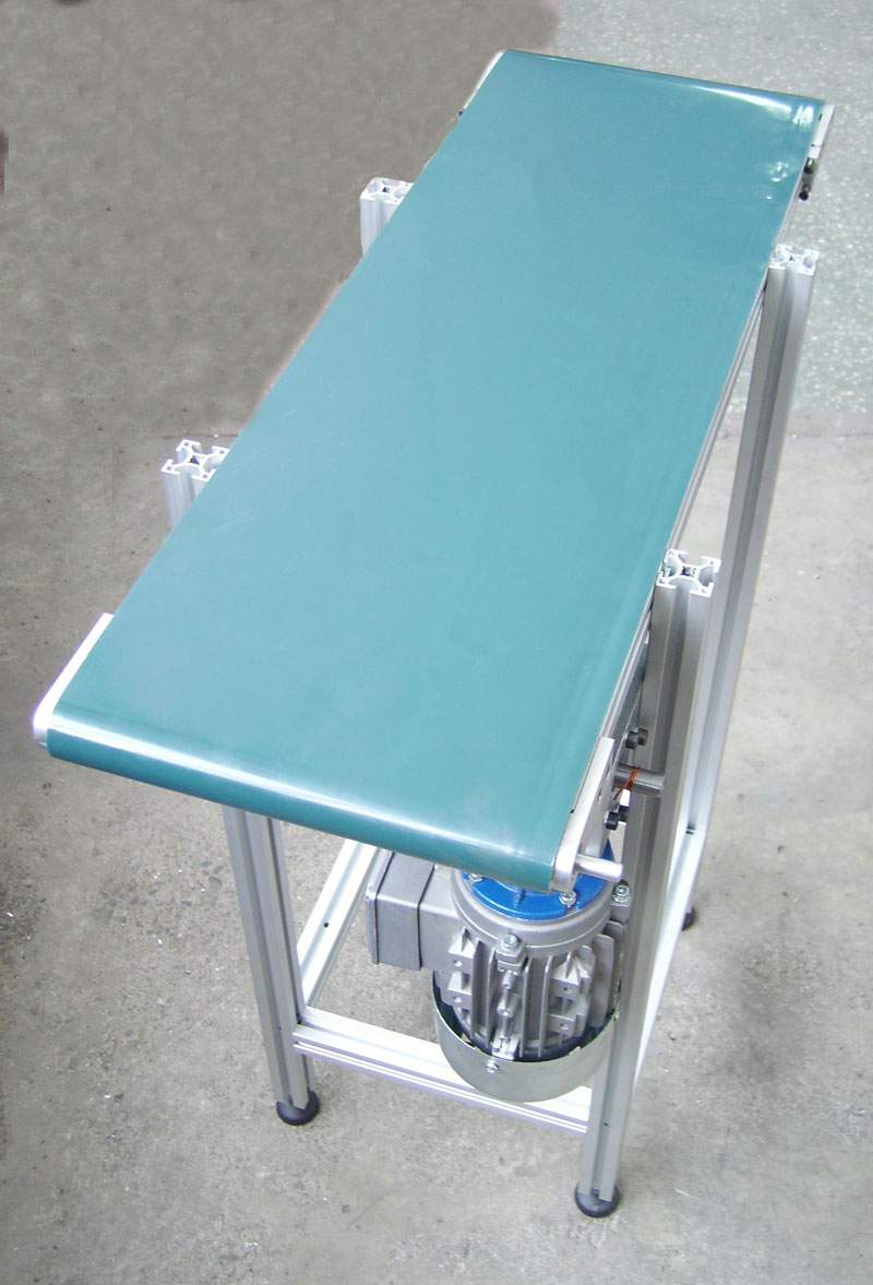 Belt conveyor for trays