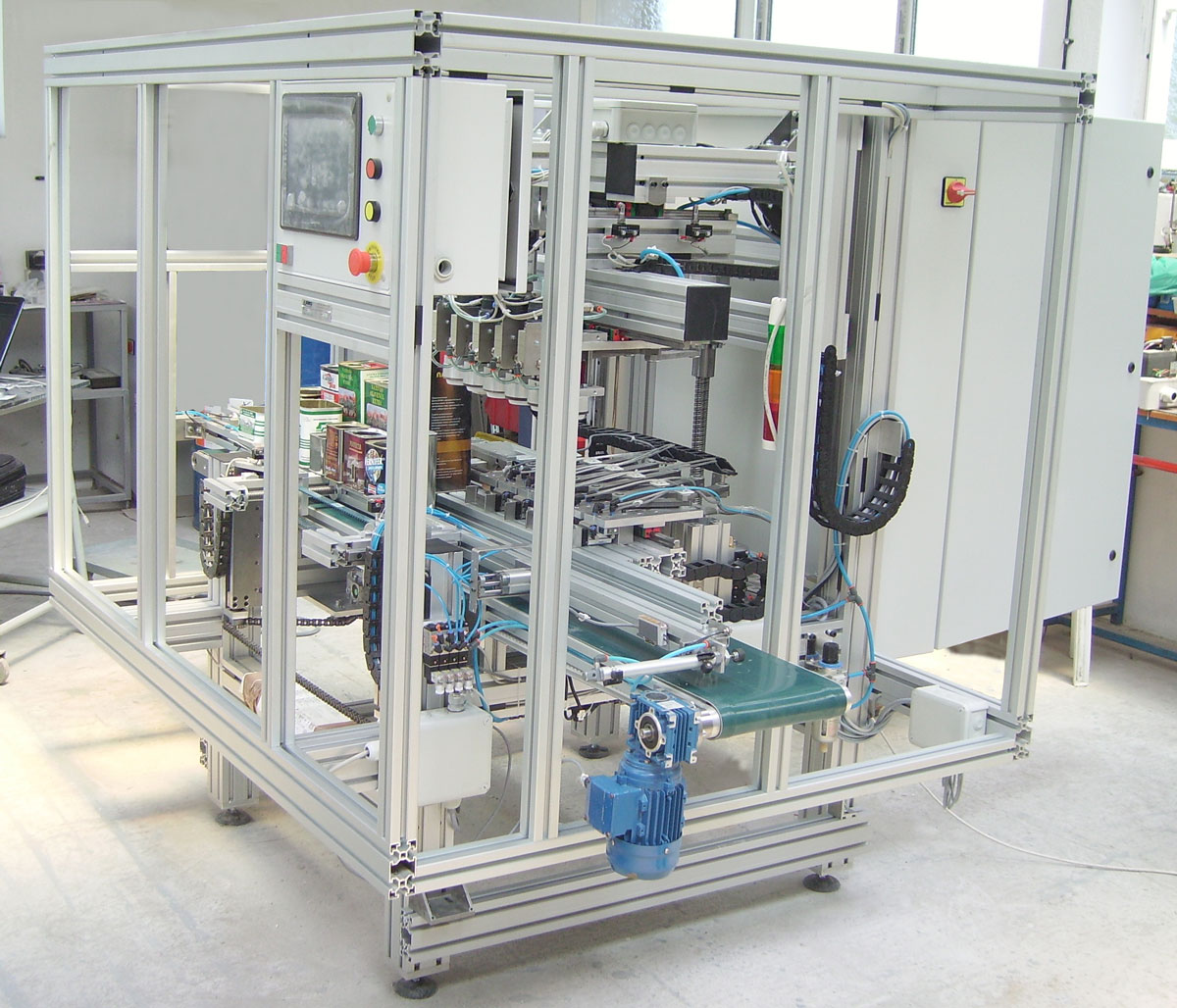 Special Leak testing machine for metal packages