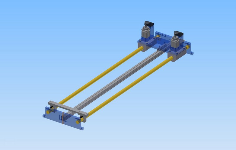 Handling unit - manipulator for nc feeding of sheet metal