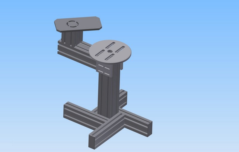 Mount without rotation for a vibratory bowl feeder